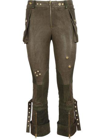 Alexander McQueen Cropped Biker Trousers