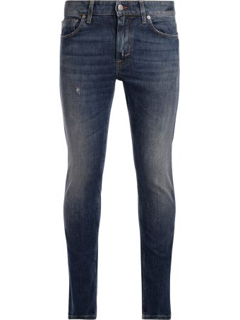 Department 5 Jeans Department 5 Skeith Blue Medium Washed Denim