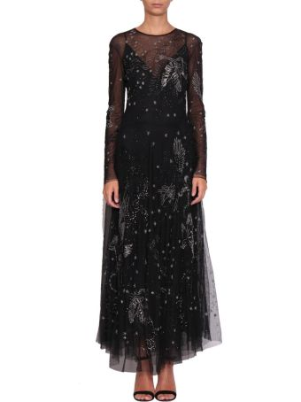 Amen Embroidered Tulle Dress