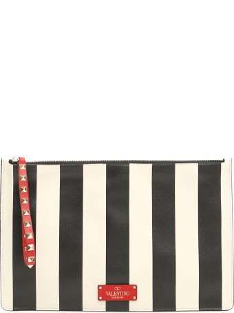 Valentino Stripe Clutch