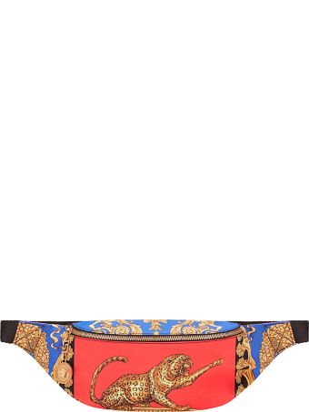 Versace Barocco Pillow Talk Leather And Nylon Fanny Pack