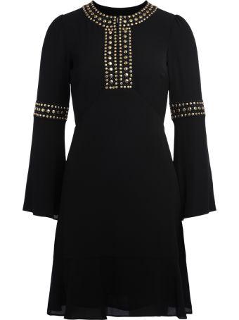 Michael Kors Black Crêpe Dress With Studs
