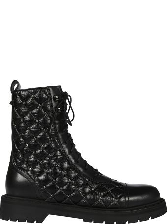 Valentino Rockstud Spike Lace-up Boots
