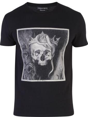 Alexander McQueen Black Printed T-shirt