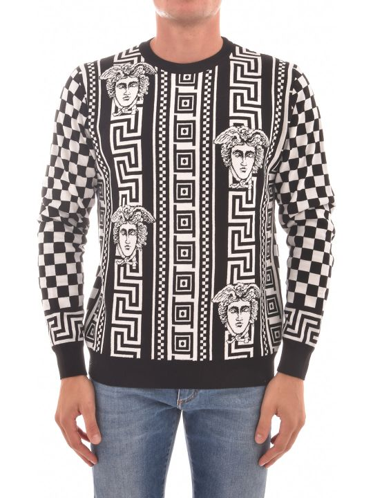 Versace Shirt With Greek Damier