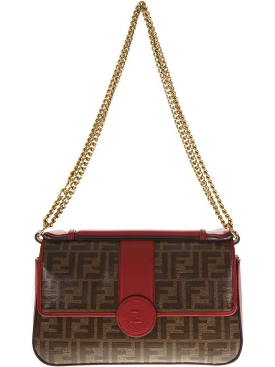 Fendi Mahogany Leather Double-face Hand Bag