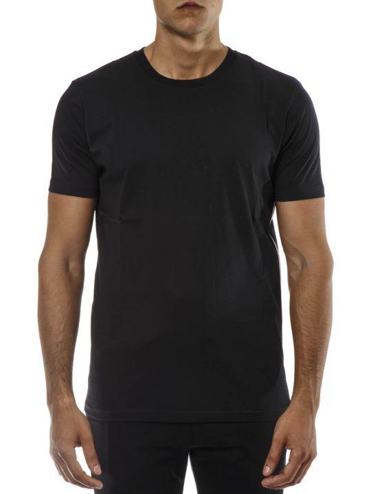 Versus Versace Black Cotton Logo Zip T-shirt
