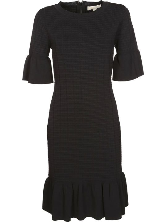Michael Kors Textured Ruffle Trim Dress