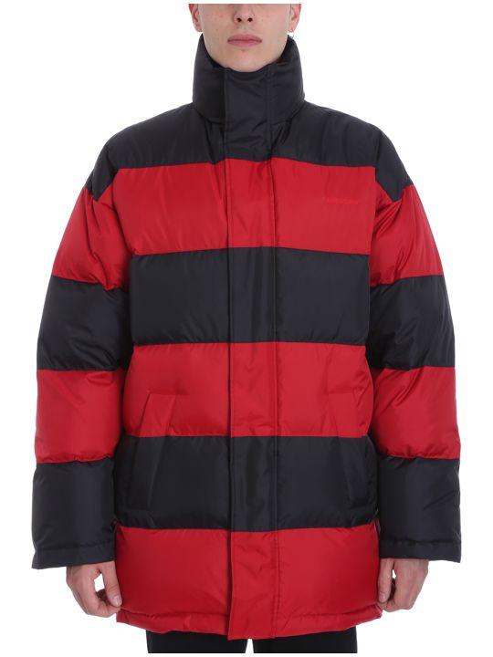 Balenciaga Red/black Nylon Down Jacket