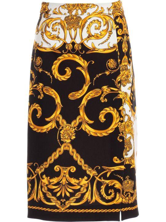 Parosh Skirt Pencil Printed Baroque
