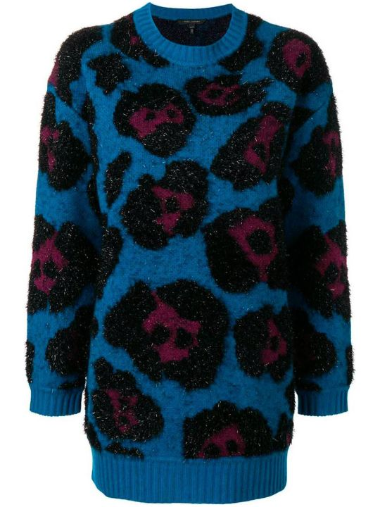 Marc Jacobs Oversized Leopard-jaquard Wool And Cashmere-blend Sweater