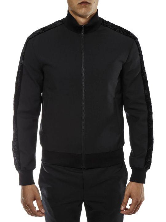 Versus Versace Black Wool Velvet Ribbon Jacket