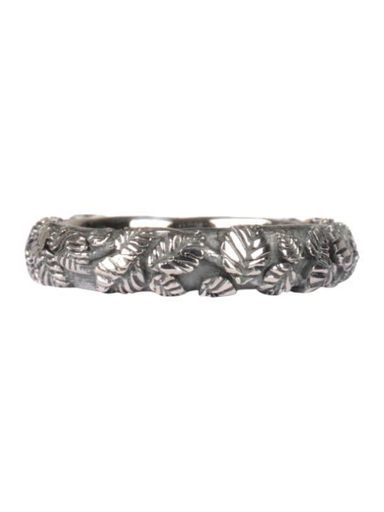 Ugo Cacciatori Tiny Leaves Silver Ring