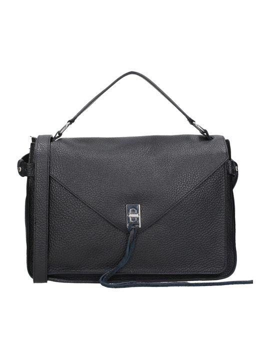 Rebecca Minkoff Black Leather Darren Messange Bag