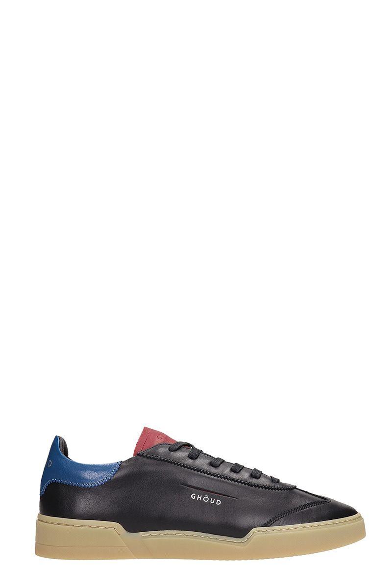 GHOUD Black Leather Low Sneakers