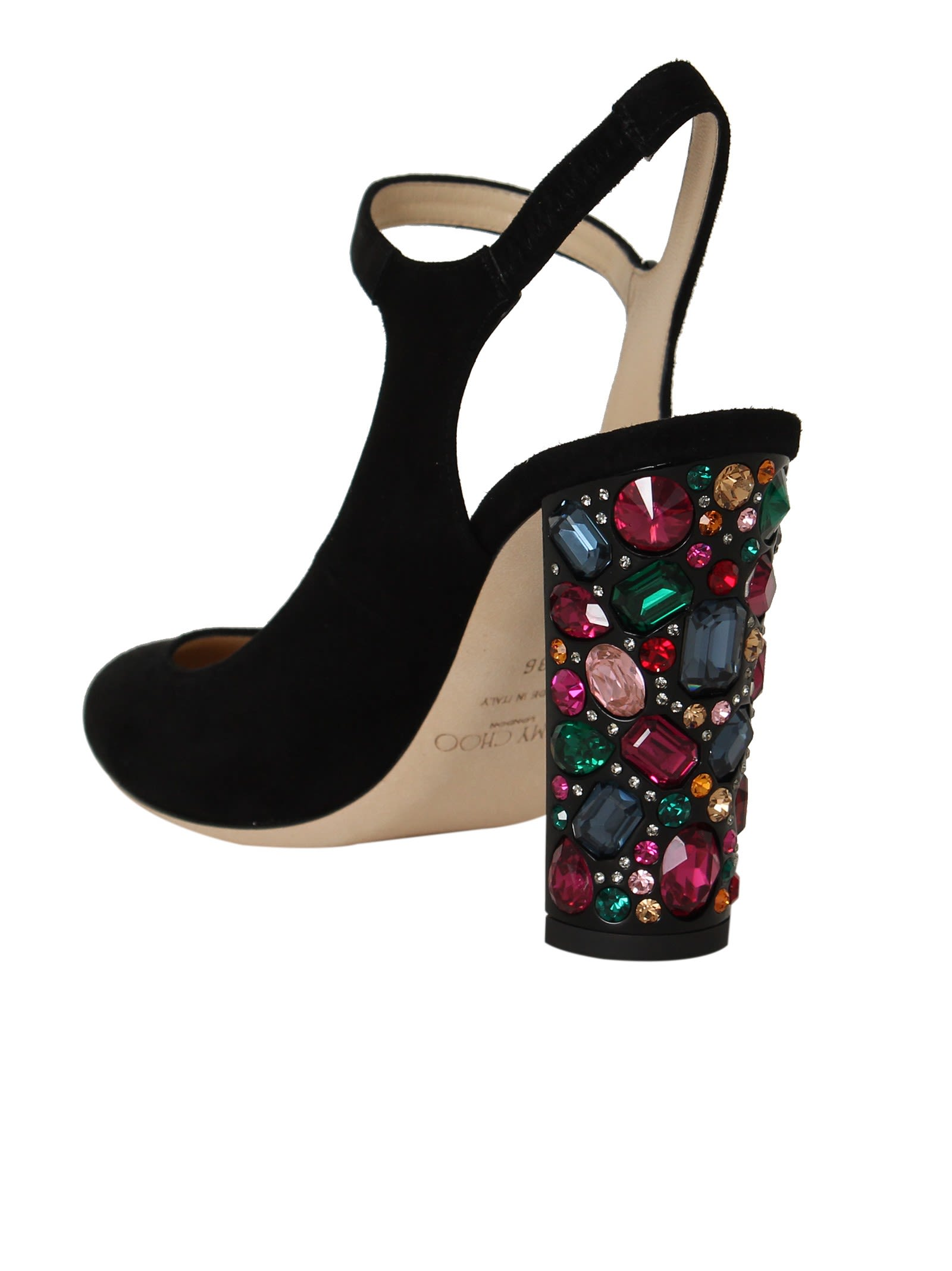 ... Jimmy Choo Black Meagan Mary-jane Sandals ...