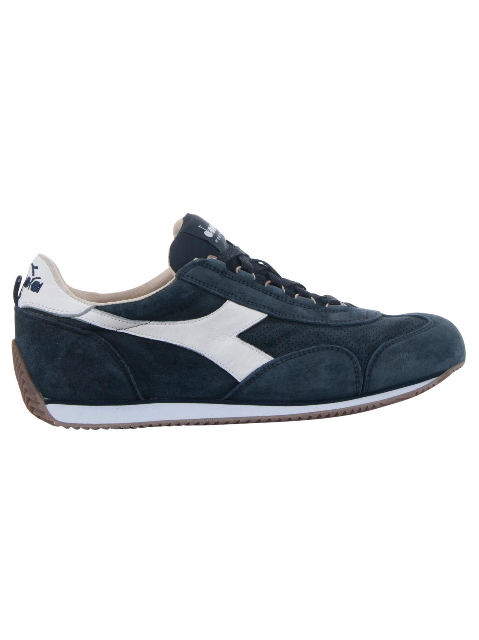 DIADORA Men'S Shoes Leather Trainers Sneakers Equipe S Sw 18 in Blue