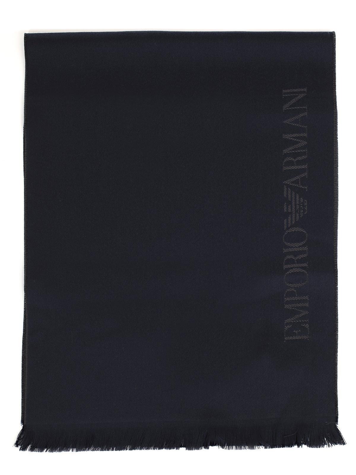 Emporio Armani Logo Intarsia Scarf