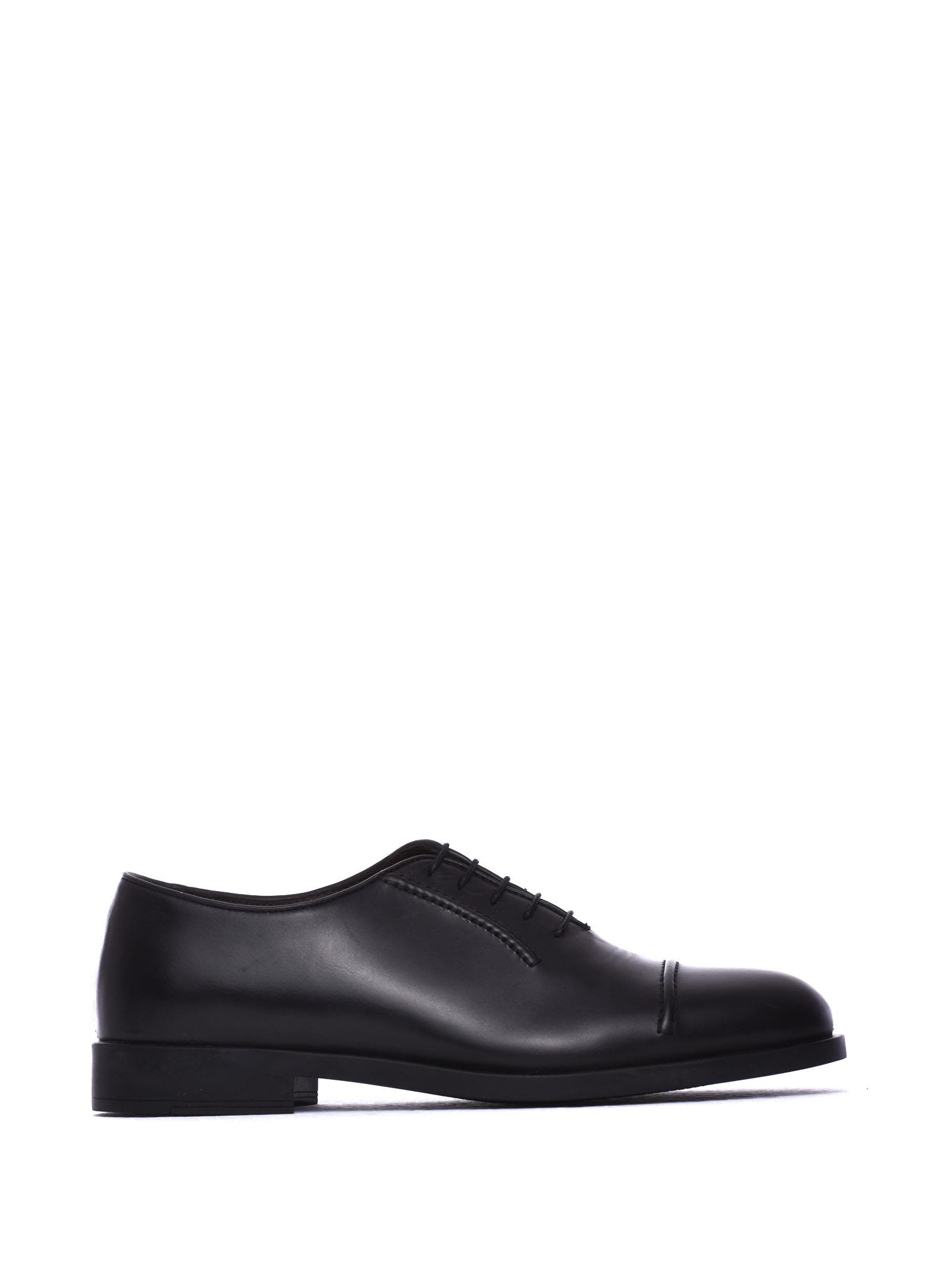 FRATELLI ROSSETTI ONE Lace-Up Black Calf Leather Shoe in Nero