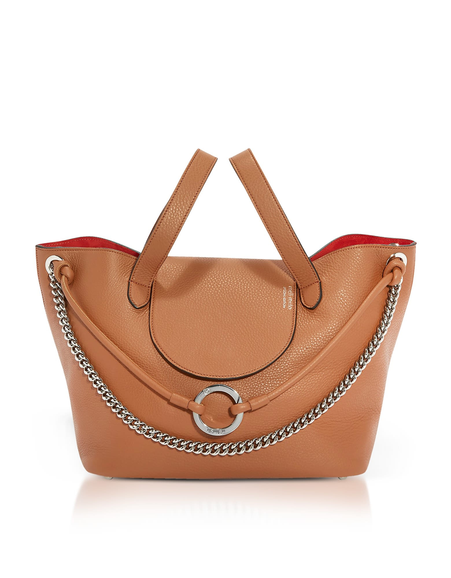 Meli Melo TAN LEATHER LINKED THELA MEDIUM TOTE BAG