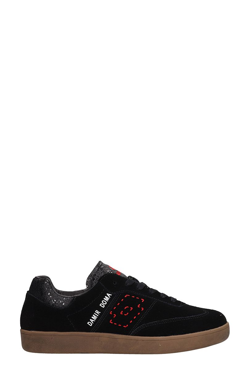 DAMIR DOMA - LOTTO Sneakers Born From The Collaboration Damir Doma X Lotto in Black