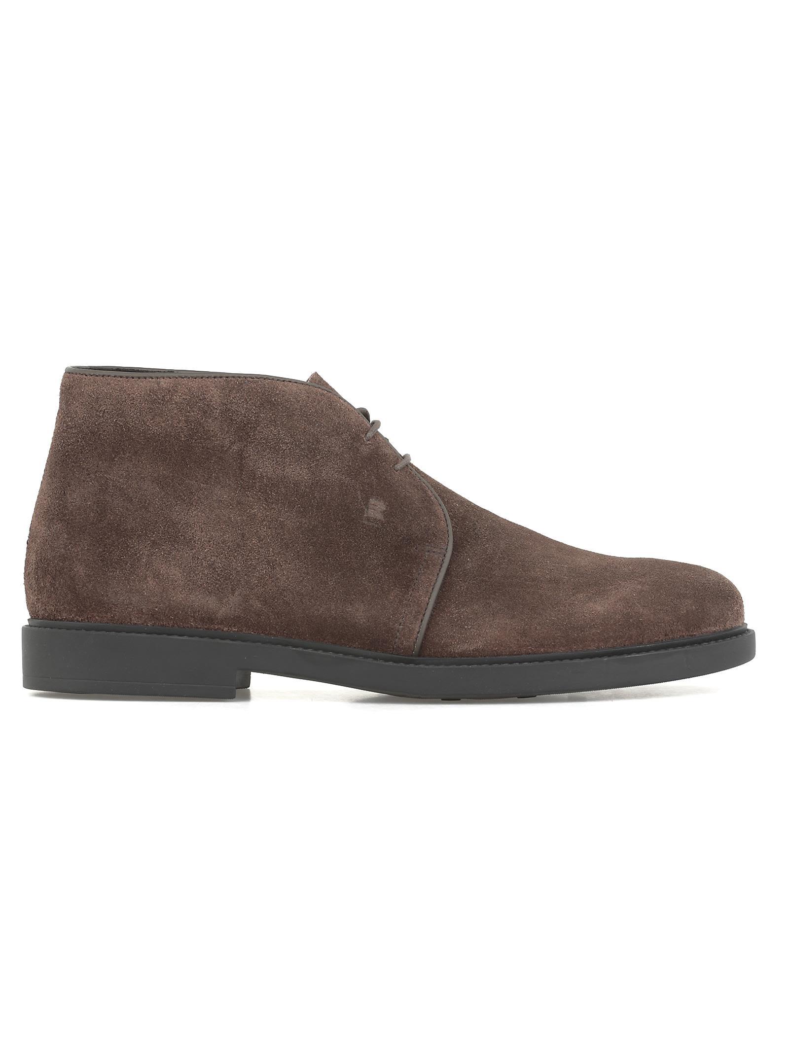 FRATELLI ROSSETTI Leather Desert Boot in Brown