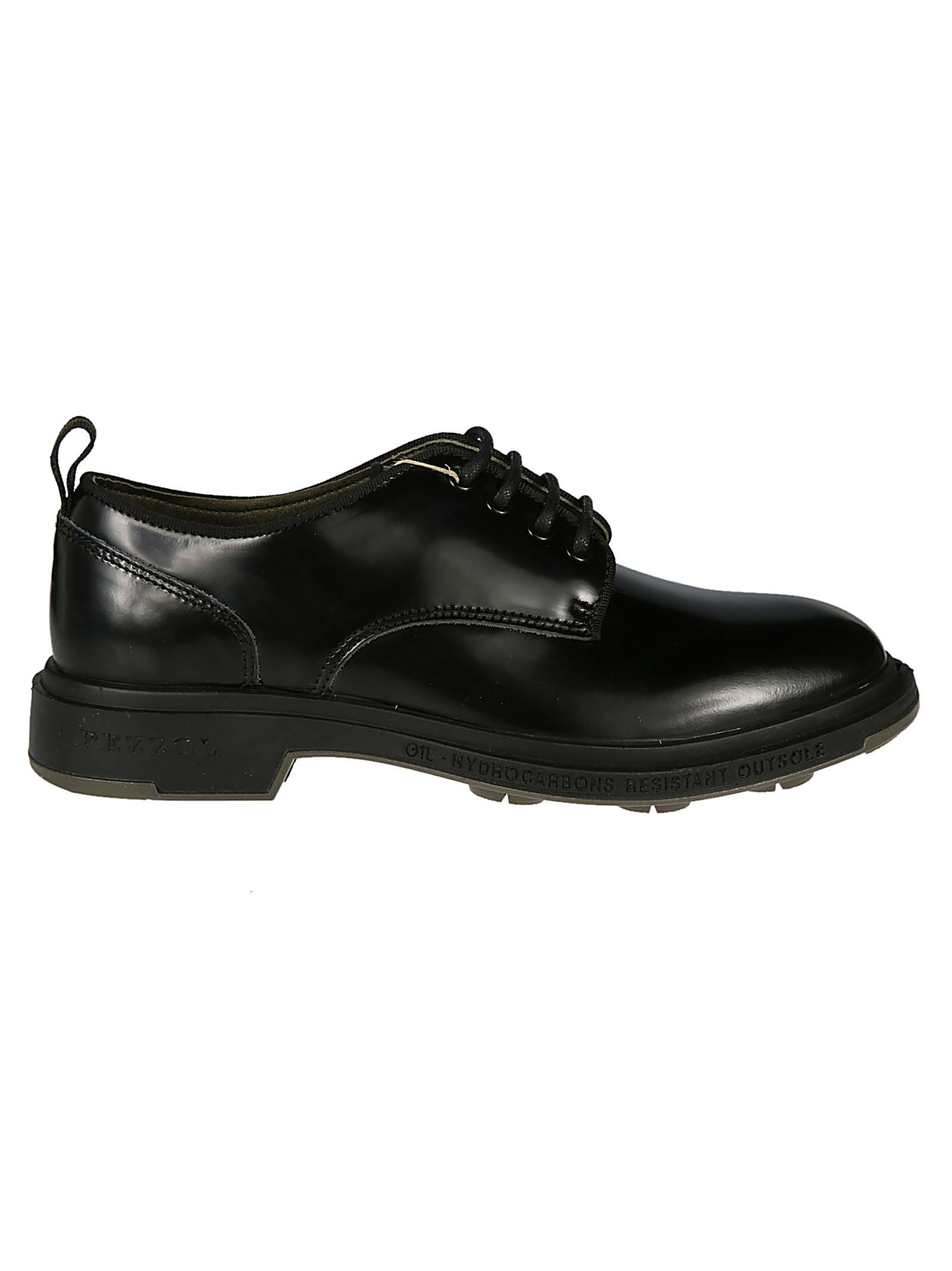 PEZZOL Casual Derby Shoes in London Black