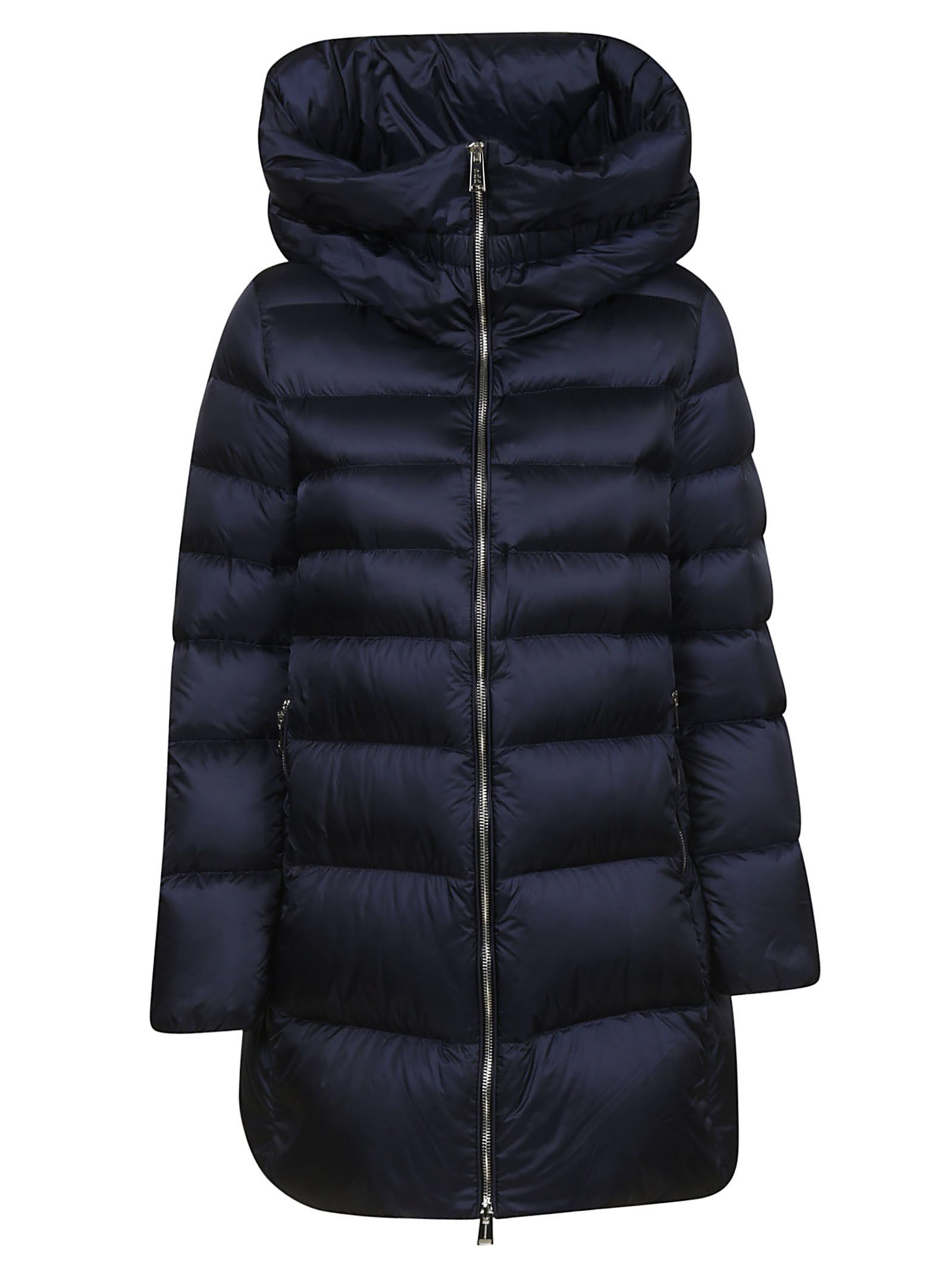 ADD Zipped-Up Padded Jacket in Blu