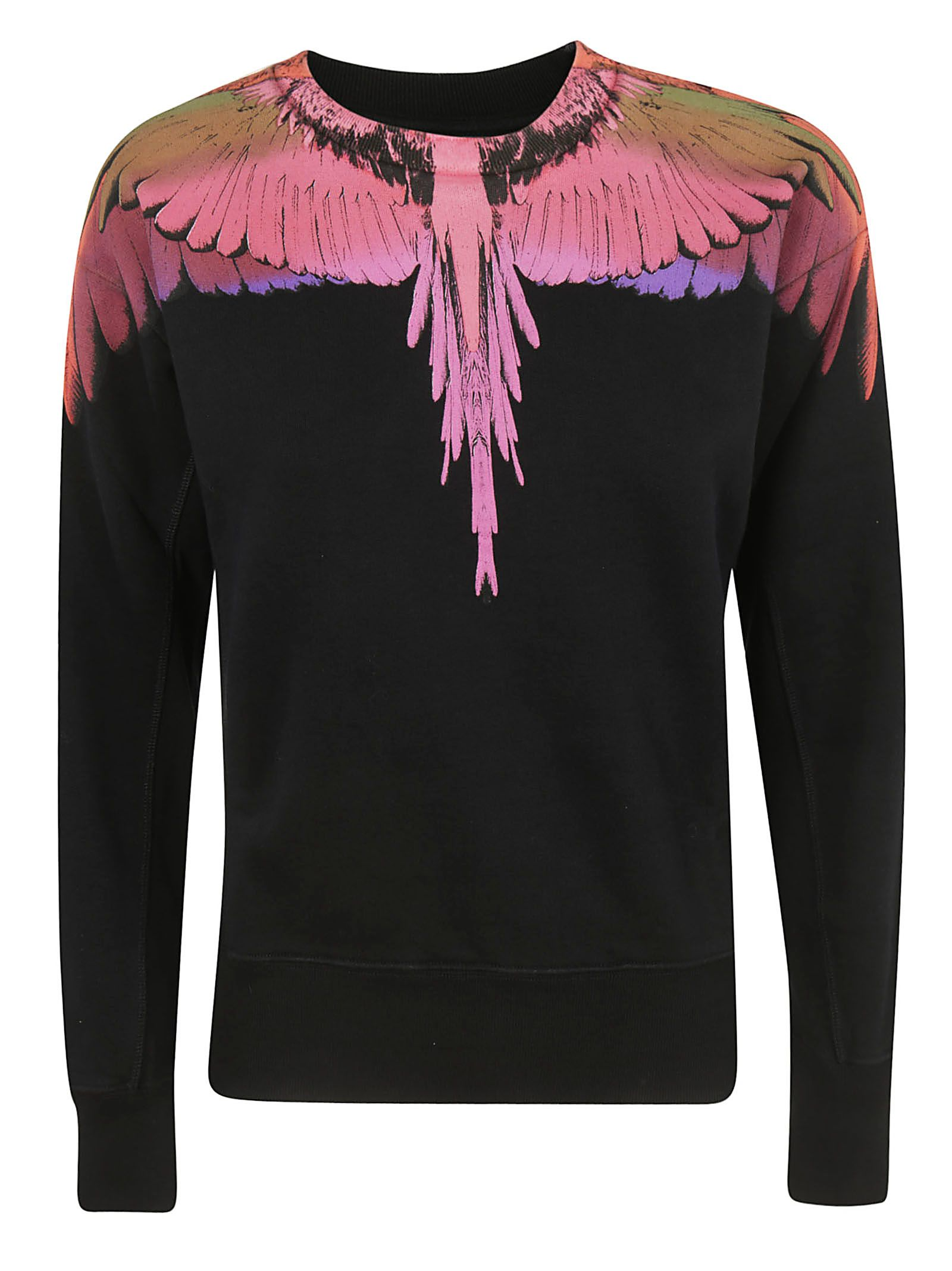Wings Print Sweatshirt, 1088 Black