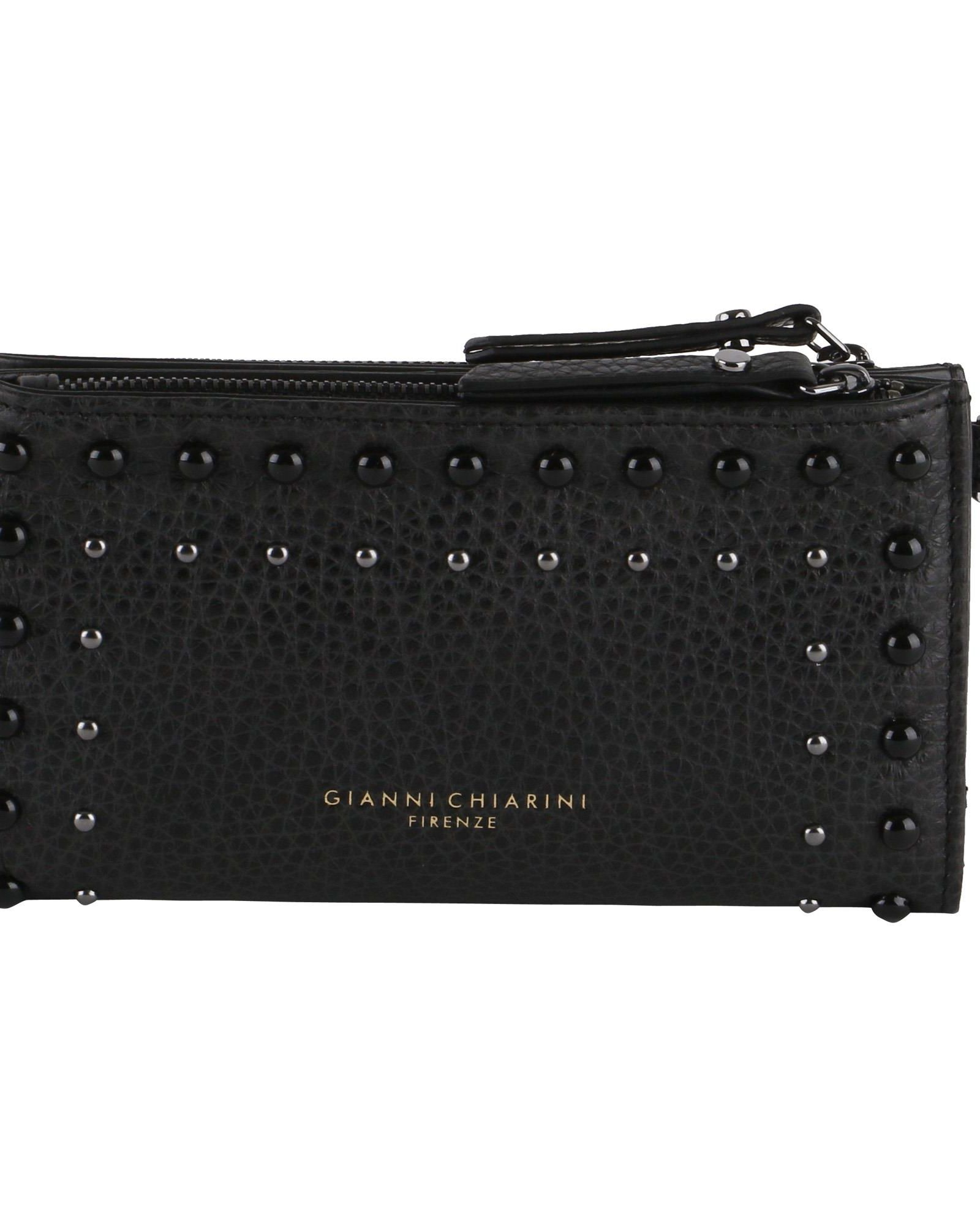 GIANNI CHIARINI Grained Leather Wallet in Black