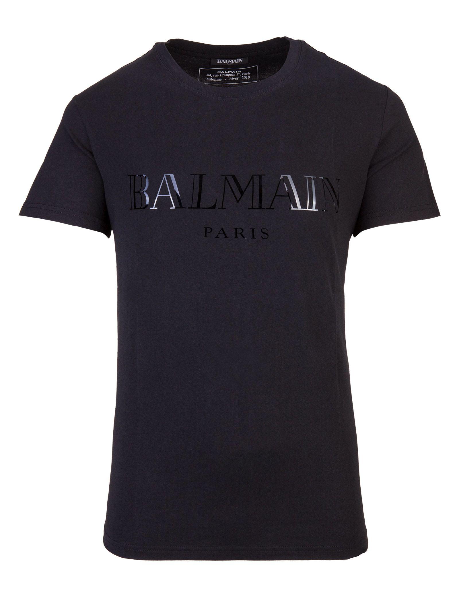 balmain paris t shirt nero 10635570 italist. Black Bedroom Furniture Sets. Home Design Ideas
