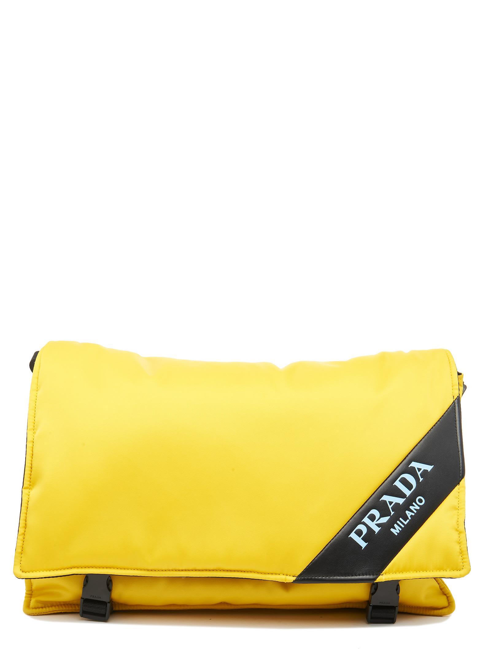 Logo Messenger Bag in Yellow
