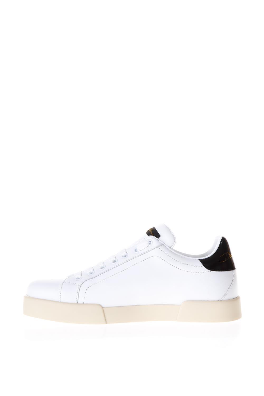 Dolce & Gabbana Chaussures En Cuir Blanc Portofino Vernie 0l1Vx6UsY
