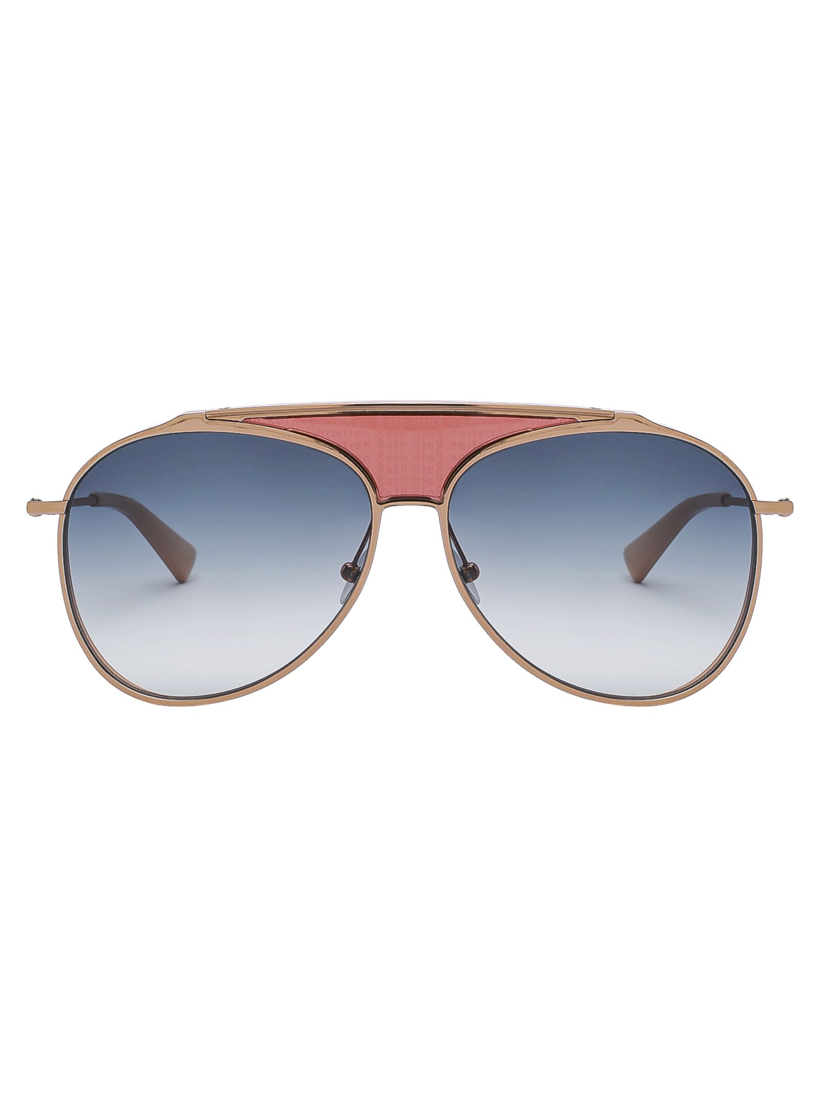 Christian sol gafas rosa en Roth de Funker oro rc07IOrq68