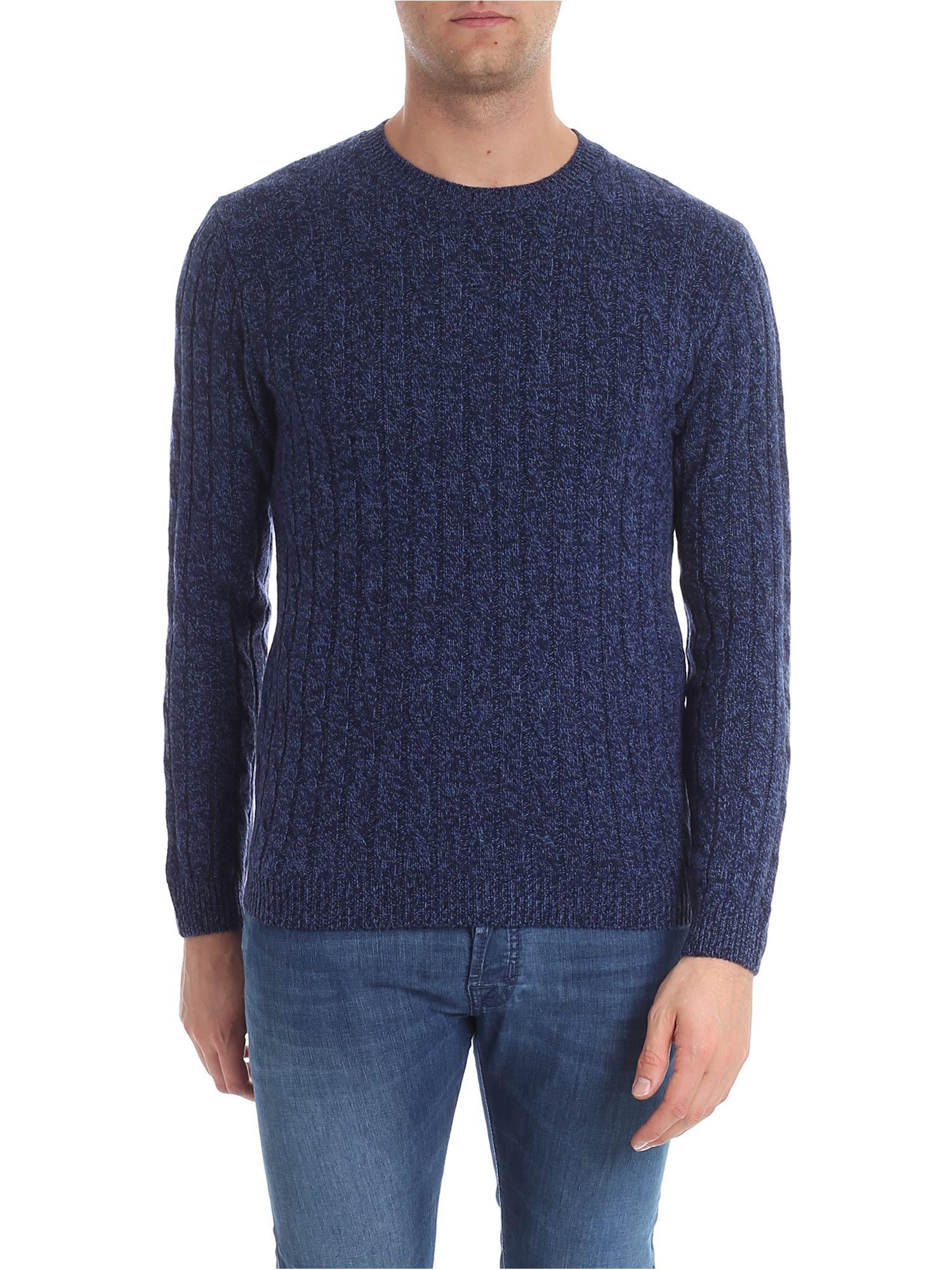 DANIELE FIESOLI Cashemere And Merino Wool Sweater in Blue