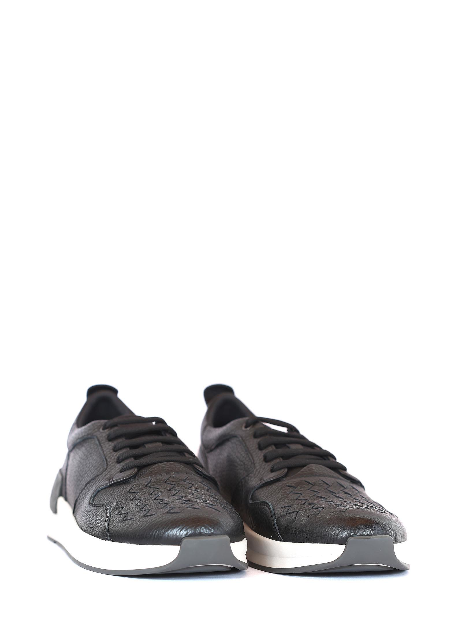 Bottega Veneta Tressé Chaussures En Cuir Noir VcxYJZzh