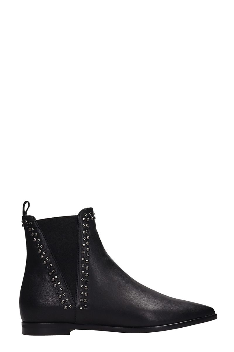 JANET&JANET Black Leather Boots