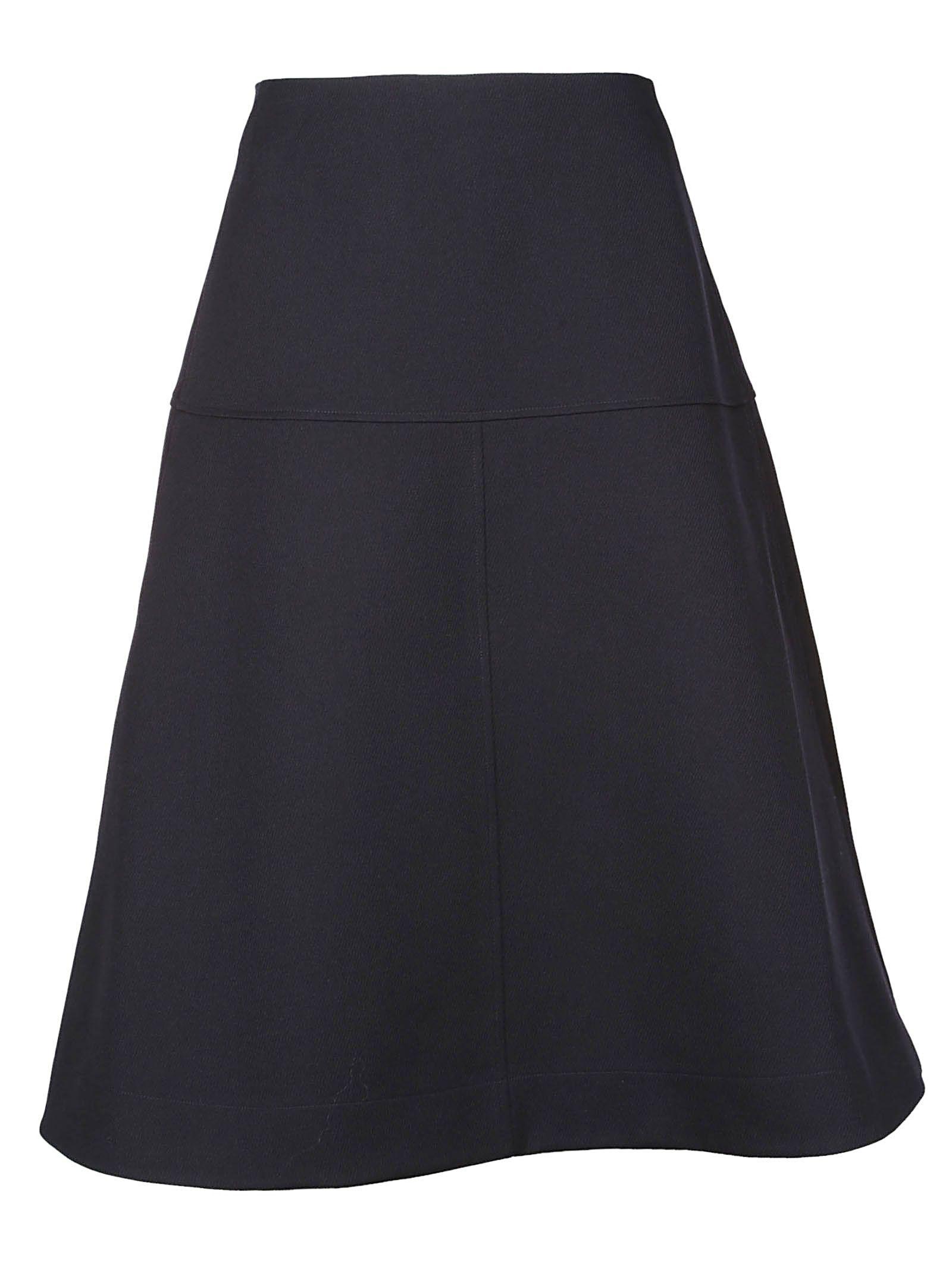 Jil Sander Navy Flared Skirt