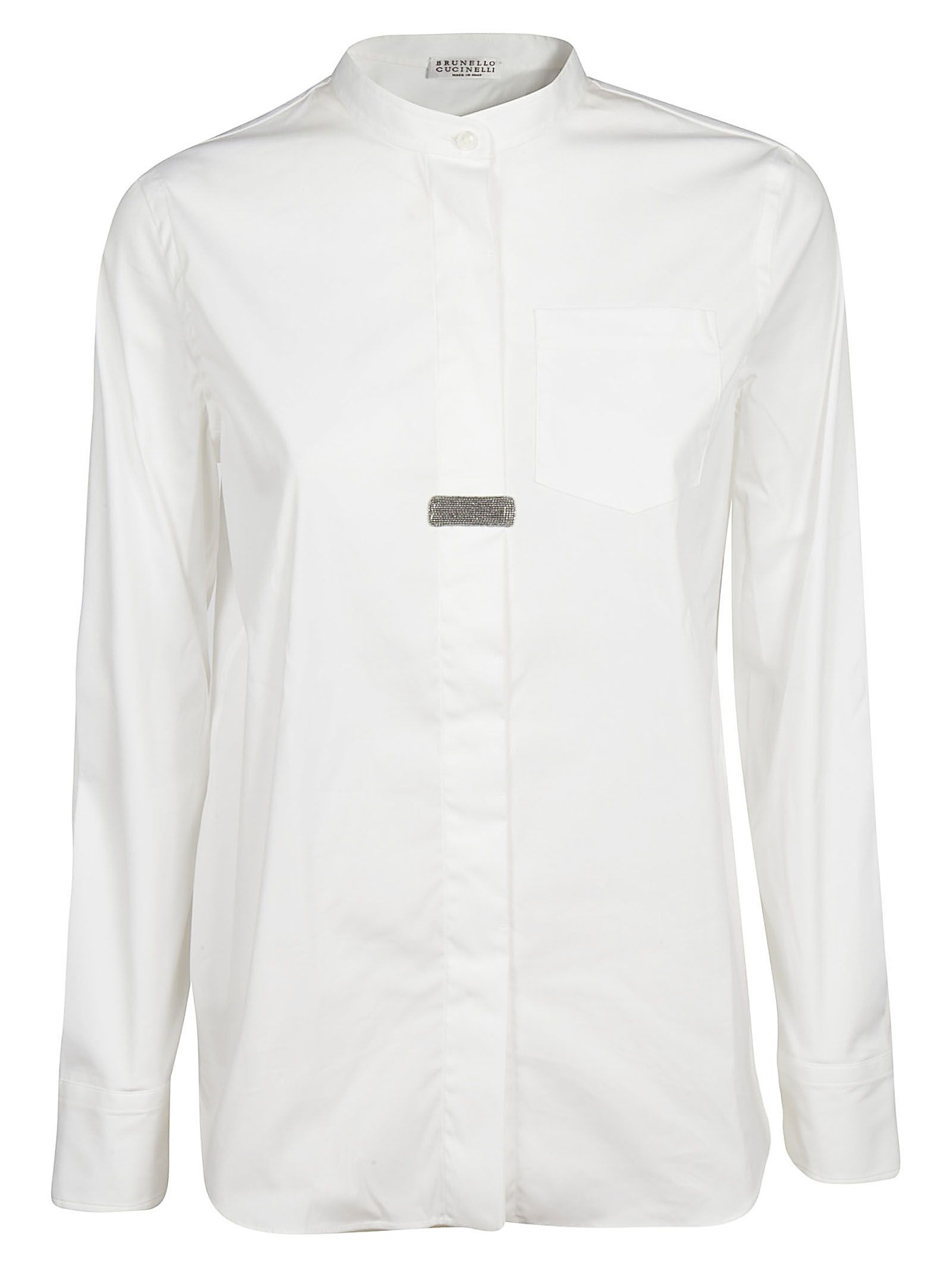 Brunello Cucinelli Mandarin Collar Shirt