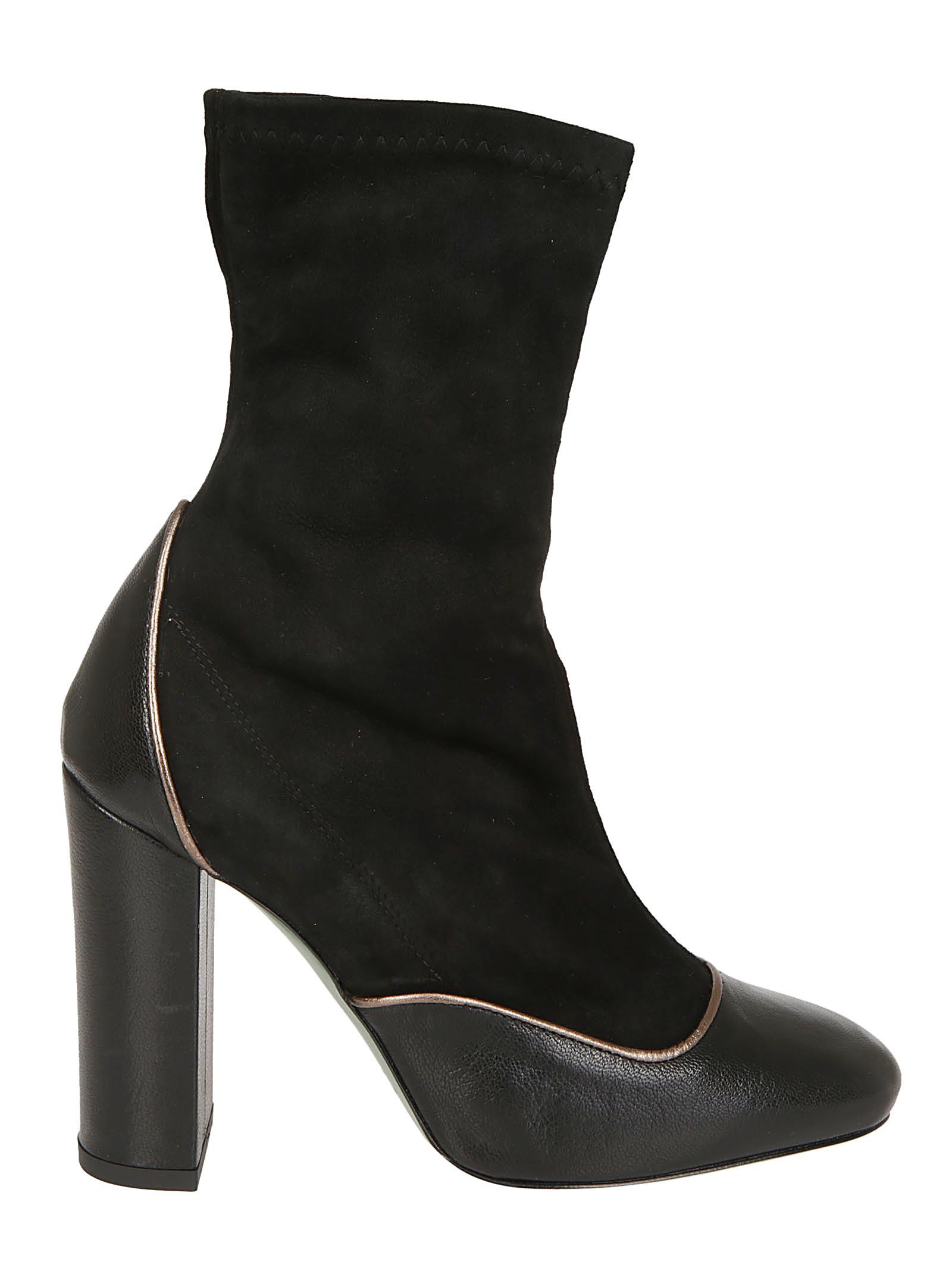 PAOLA D'ARCANO Paola D'Arcano High Heel Ankle Boots in Black