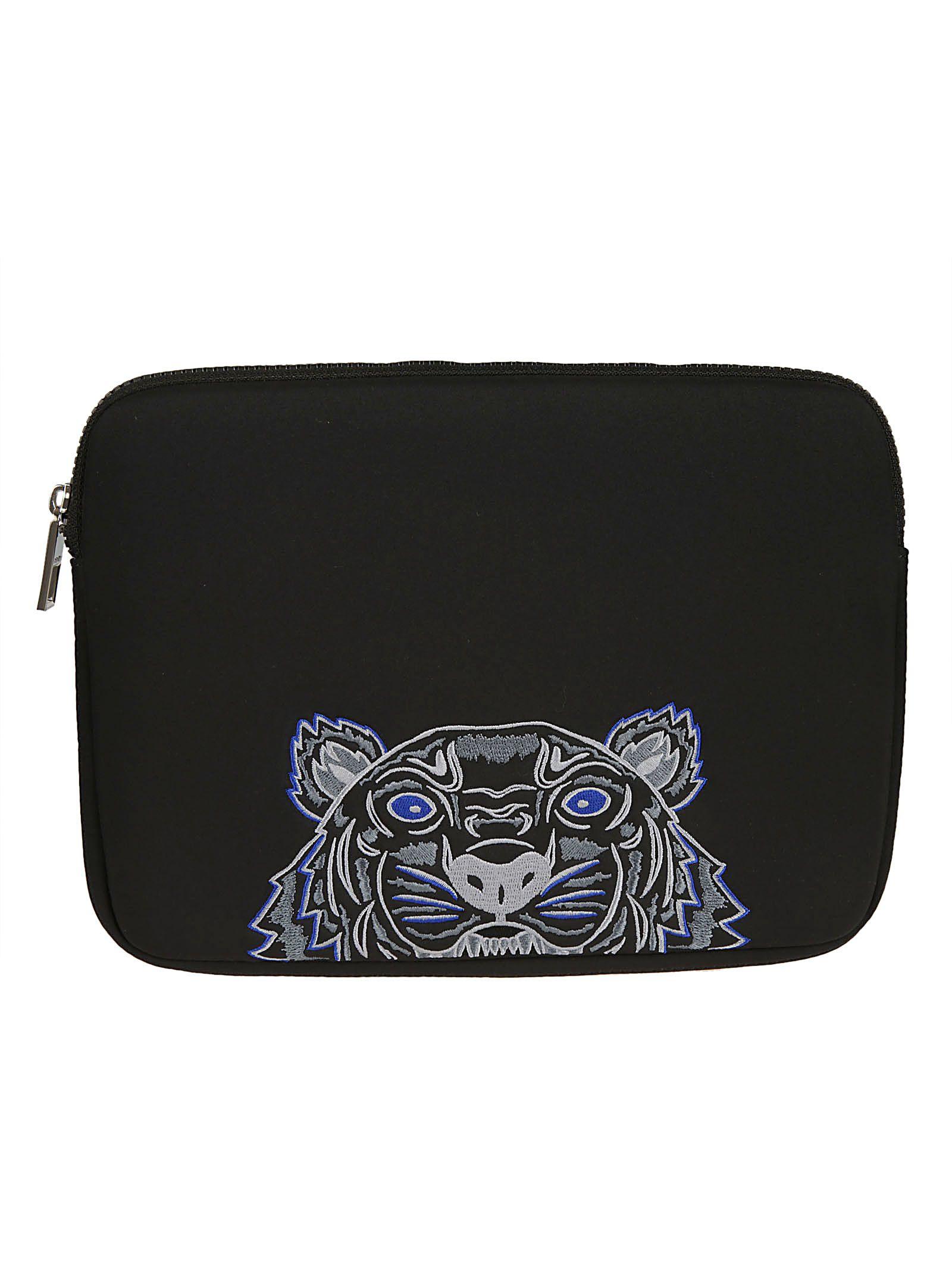 KENZO Tiger Laptop Case in Black
