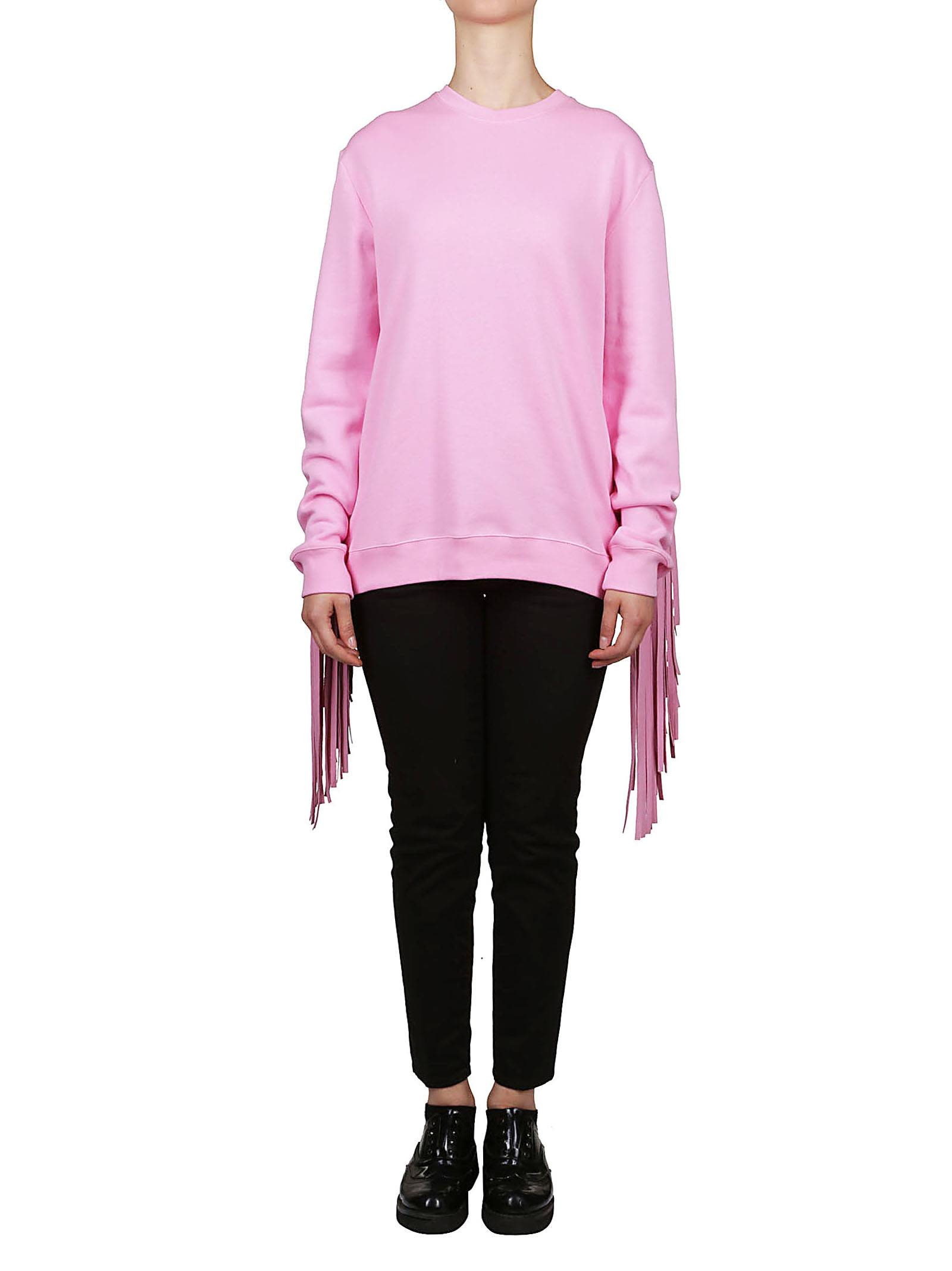 fringe detail sweatshirt - Pink & Purple Msgm Largest Supplier Sale Online Cheap Exclusive jE9os