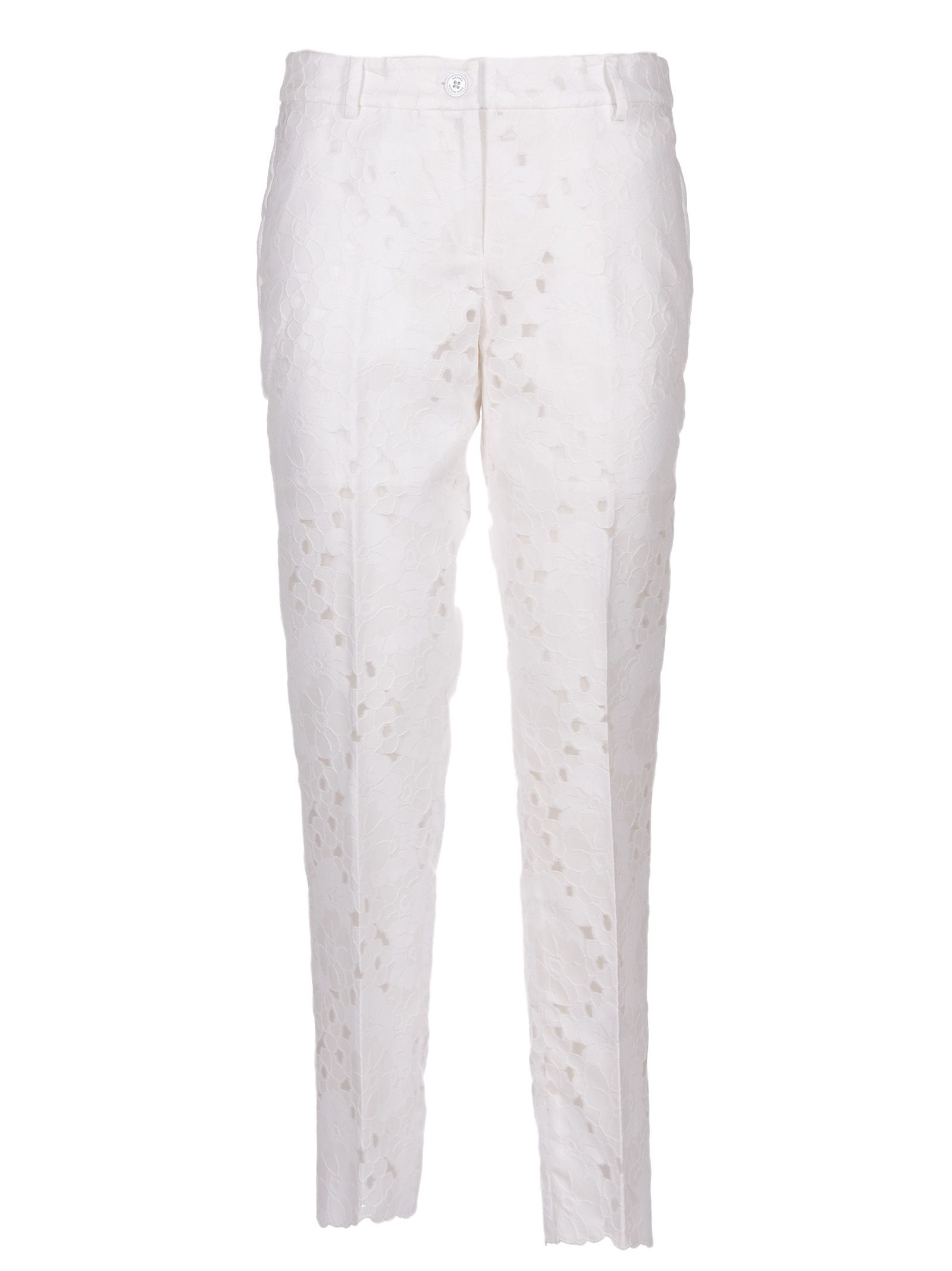 MICHAEL MICHAEL KORS FLORAL PATTERN CROPPED TROUSERS