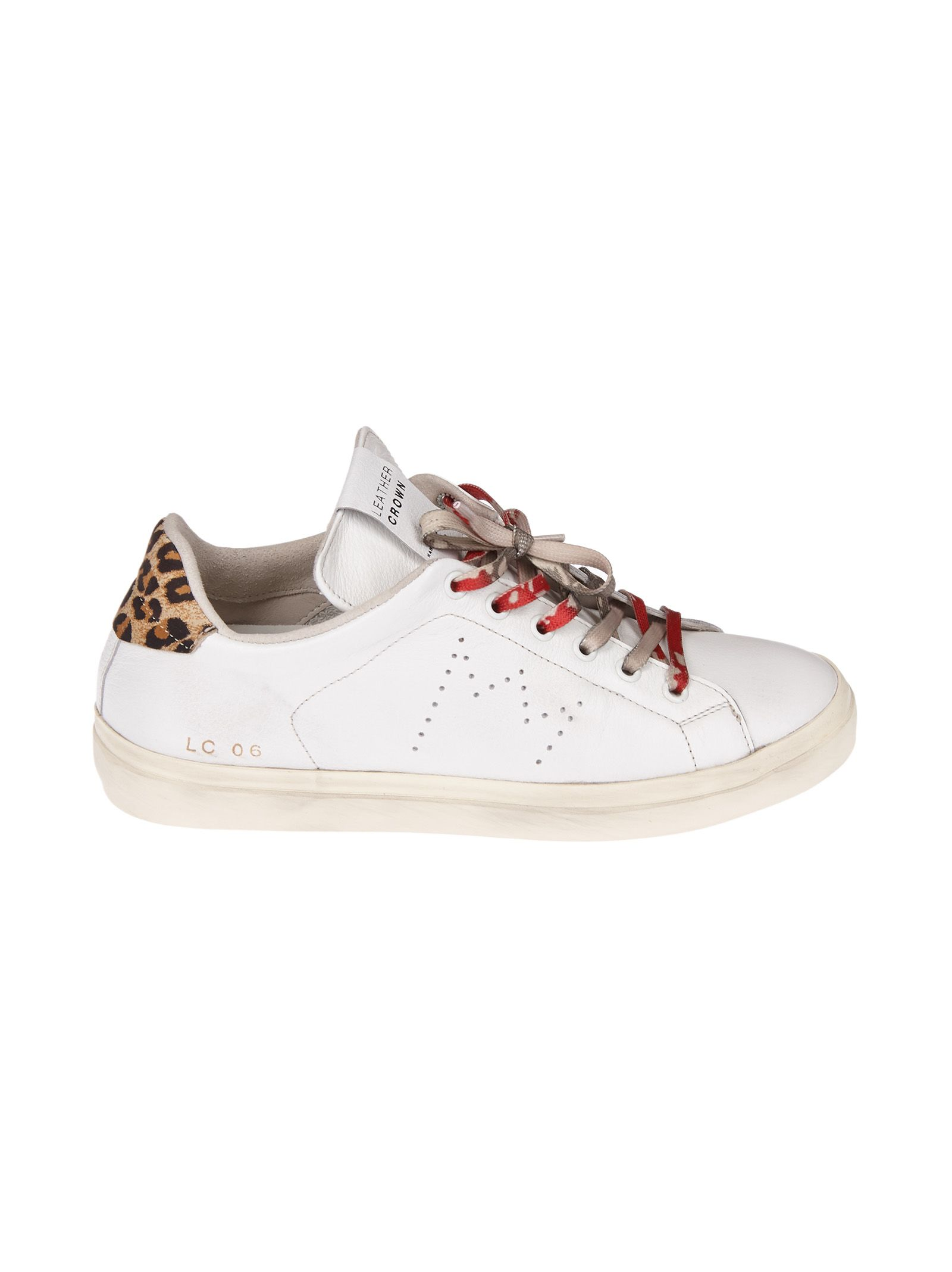 animal print sneakers - White Leather Crown ms4TnBHyR