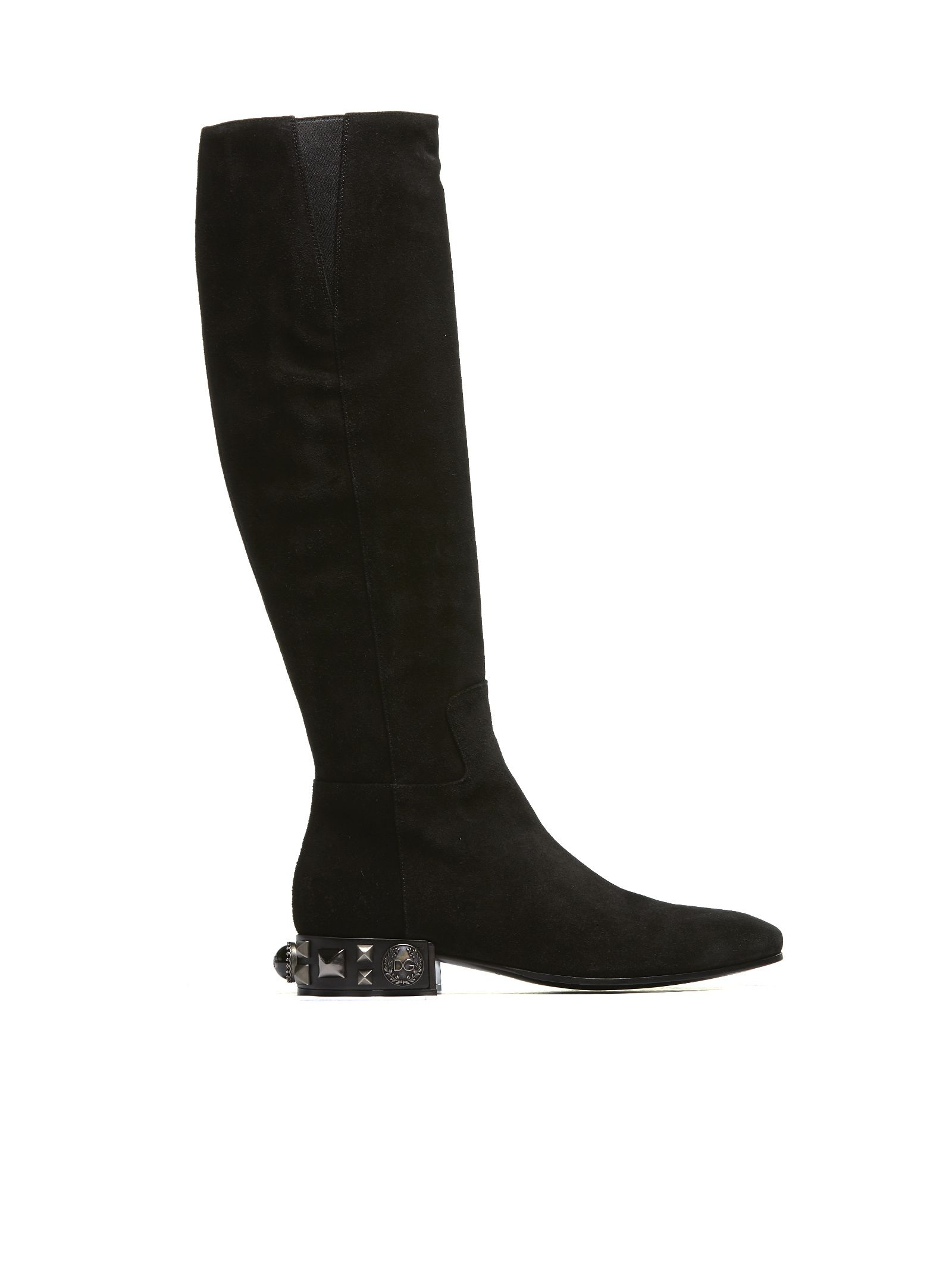 DOLCE & GABBANA LEATHER OVER THE KNEE BOOTS