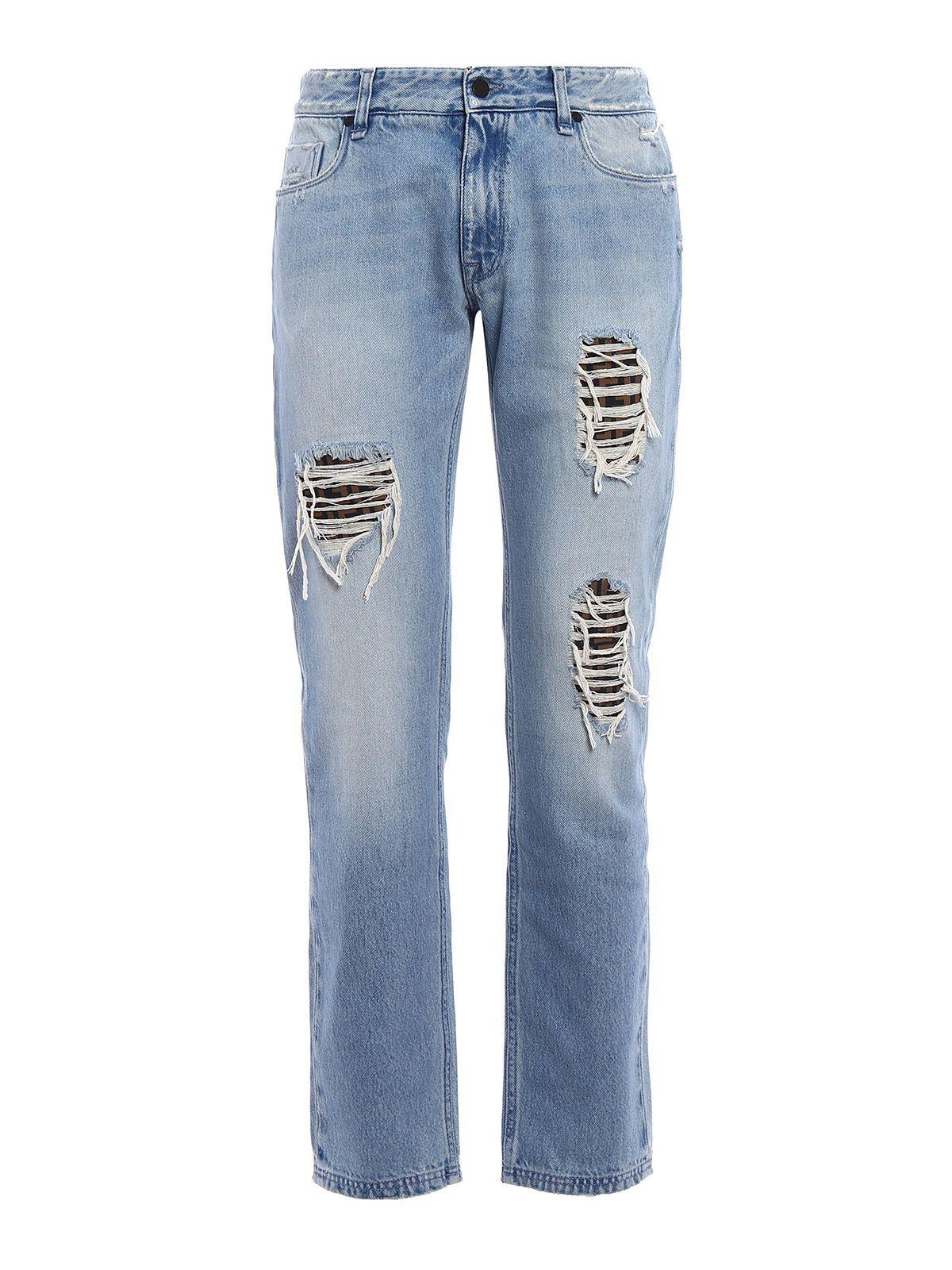 Jeans On Sale, Denim Blue, Cotton, 2017, 33 Fendi