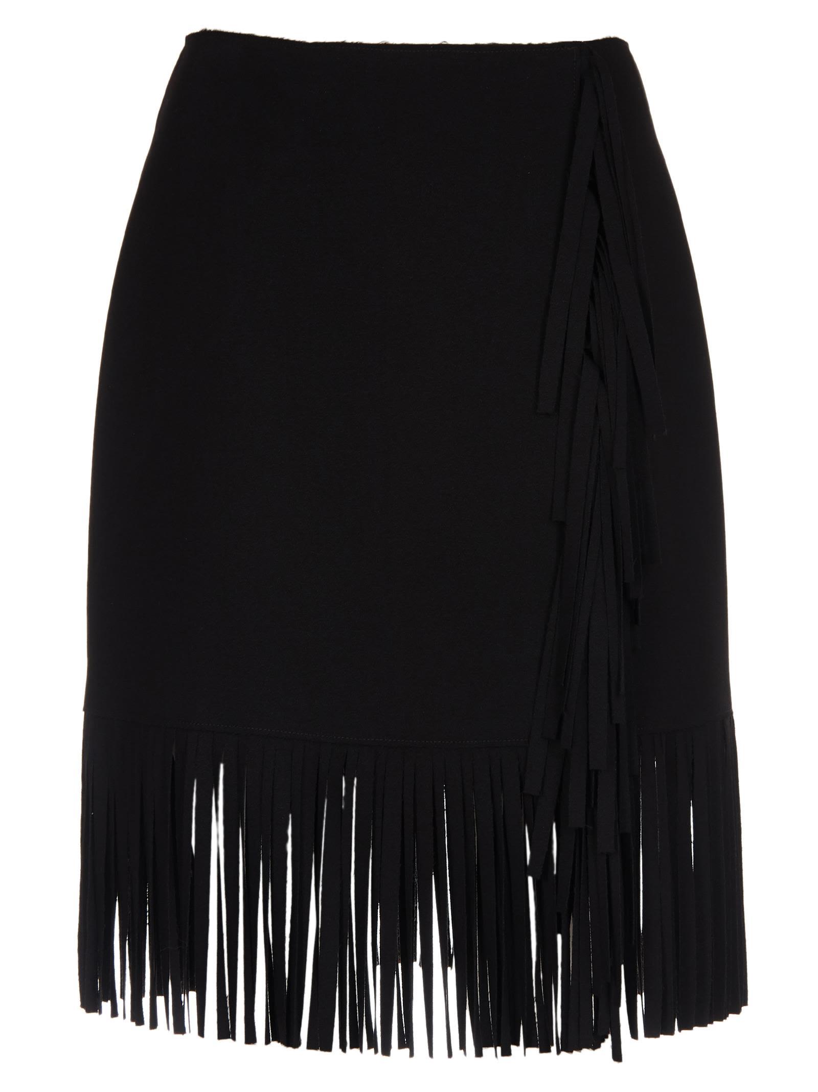 Msgm Short Fringed Skirt
