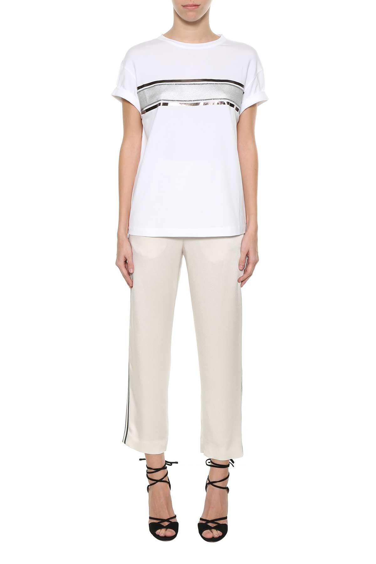 Pantalon Avec Des Bandes Latérales Brunello Cucinelli fQxs427kW