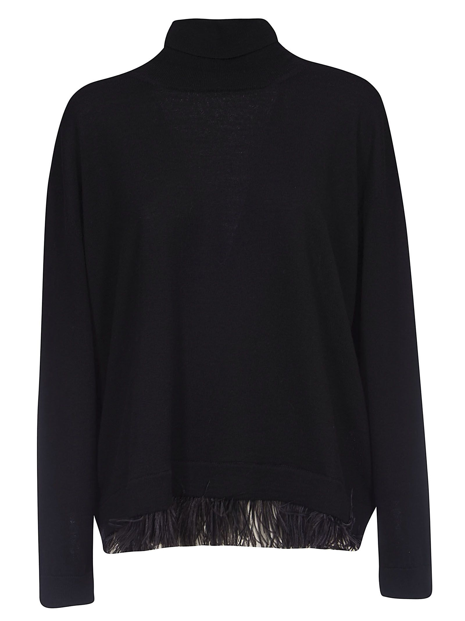 Parosh Fringed Turtleneck Sweater