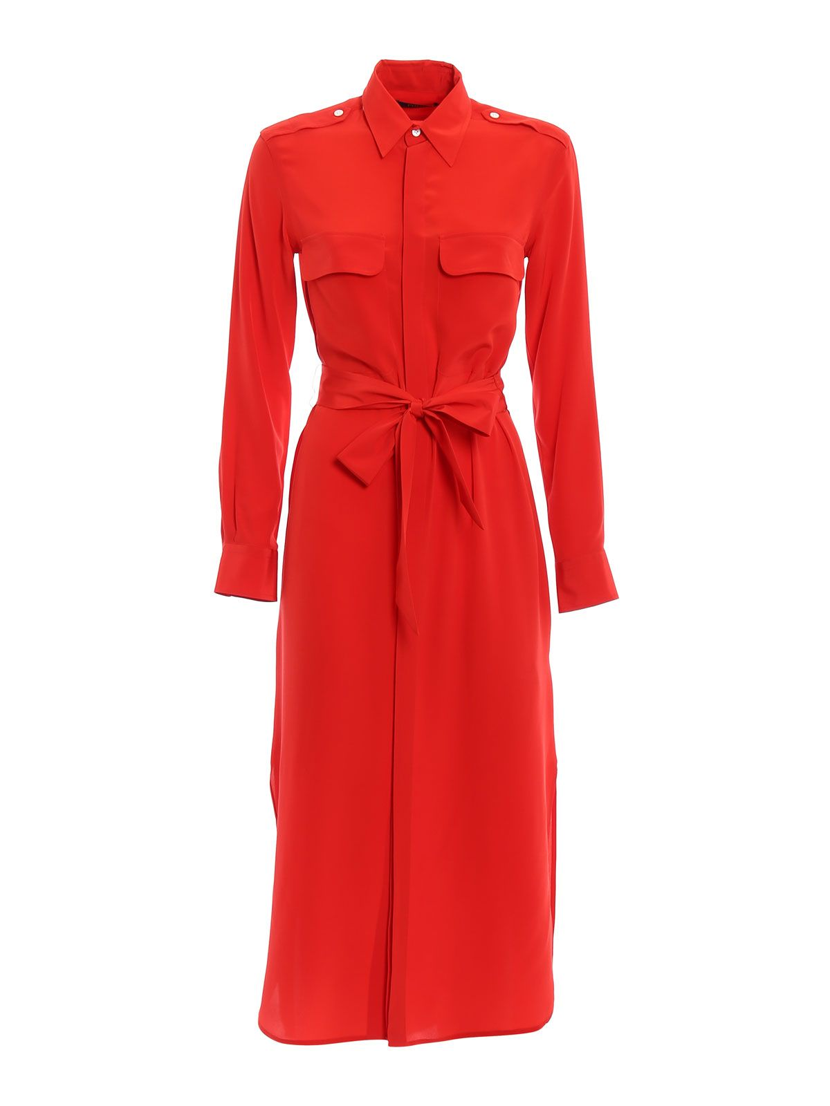 Polo Ralph Lauren Crepe De Chine Shirt Dress